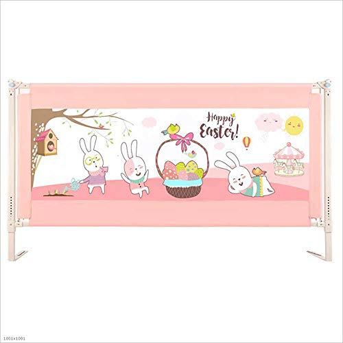 MOOMDDY Faltbare Krippenschutz in voller Größe verstellbare Hebebühne bruchfeste Bettwäsche für King-Size-Bett Anti-Rolllover rosa Schiebebahn,150×101cm (Voller Ein Bettwäsche Bett Für Größe In)