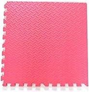 RBWTOYS Interlock EVA Foam Floor Mat 100cmx100cmx3cm Blue Color Plain Exercise Puzzle Mat for kids Activity