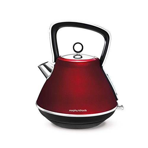 Morphy Richards Evoke Pyramid Kettle 100108 Traditional Kettle Red Best Price and Cheapest