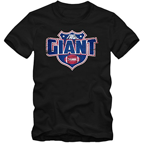 I'm a Giant #8 T-Shirt Football Herren Super Bowl Play Offs USA S-XXL, Farbe:Schwarz (Deep Black L190);Größe:M