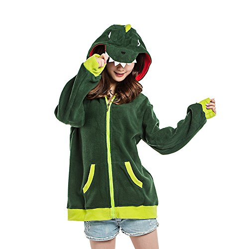 n Jacken Cosplay Kleider Reißverschluss Hoodies Sweatshirt Oberbekleidung Dinosaurier Klein (Dinosaurier-show-halloween-kostüm)