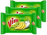 Vim Bar 200g (Pack Of 3) + 1 Green Scurb + 1 Dish Wash Container Box Offer Pack.
