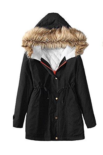 Les Femmes De L'hiver À Cordonnet, Manteau De Capitonnée Occasionnels Épaissie De Parkas Vêtements green