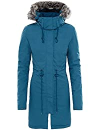 North Face Zaneck Parka - Chaqueta para Mujer, Azul (Prussian Blue), M