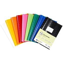 Perfect Line 25colorati A4rafia modello Book Covers, flessibile e pulire. Copertina, 9colori diversi, colorato set di protezioni libro, cover protettiva colorato per lavoro e libri scolastici