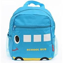 Mochila cartera escolar infantil azul autobús escolar para niños