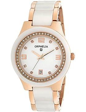 Orphelia Damen-Armbanduhr Analog Quarz Keramik