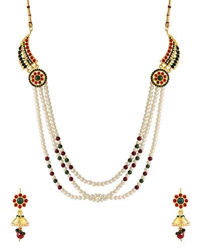 Voylla  Metal Necklace Set For Women
