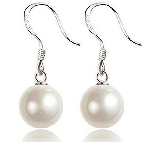 qiansheng Damen Frauen Mädchen Brautschmuck elegante Perle Ohrringe -