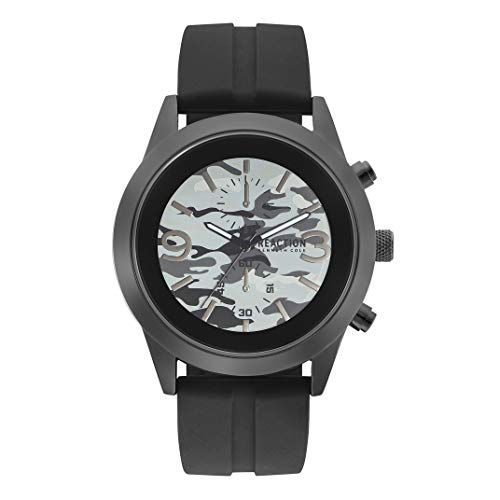 Kenneth Cole Reaction RK50546001 - Reloj de Cuarzo para Hombre, Color Negro