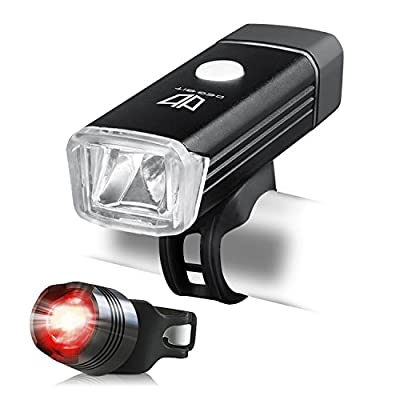 Bike Lights, DEGBIT® [Updated] USB Rechargeable Bike Light Set, Mountain Bike Light, Cycle Lights, LED Bicycle Lights, StVZO Approved, Quick Release, USB Rechargeable Front Light and Tail Light - cheap UK light store.