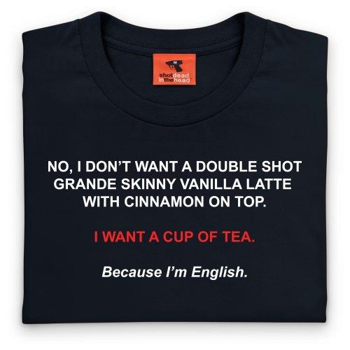 Nice Cup of Tea T-Shirt, Herren Schwarz