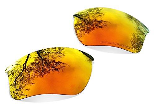 sunglasses restorer Kompatibel Ersatzgläser für Oakley Flak Jacket XL, Polarisierte Fire Iridium Linsen