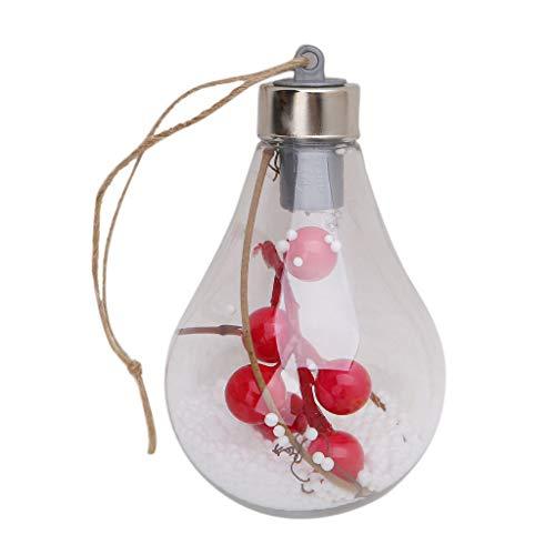 Hergon Weihnachtsbaum LED Glühbirne Kugel Licht Lampe Hängende Ornamente Party Outdoor Decor