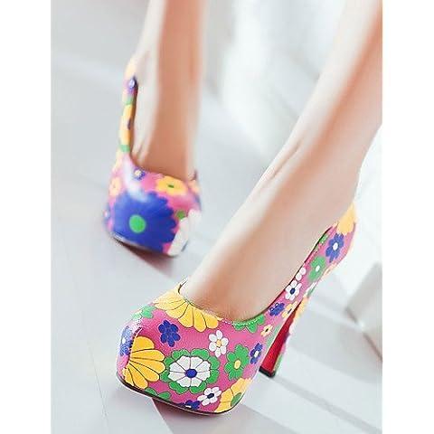 syyner de zapatos de mujer talón talones/plataforma talones al aire libre/vestido/casual azul/rosa/naranja/2–9, rosa, us7.5 / eu38 / uk5.5 / cn38