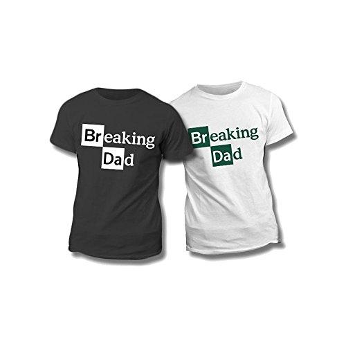 Altra marca t-shirt uomo maglietta bianca personalizzata breaking dad maglia maschile estiva idea regalo per la festa del papà - xl