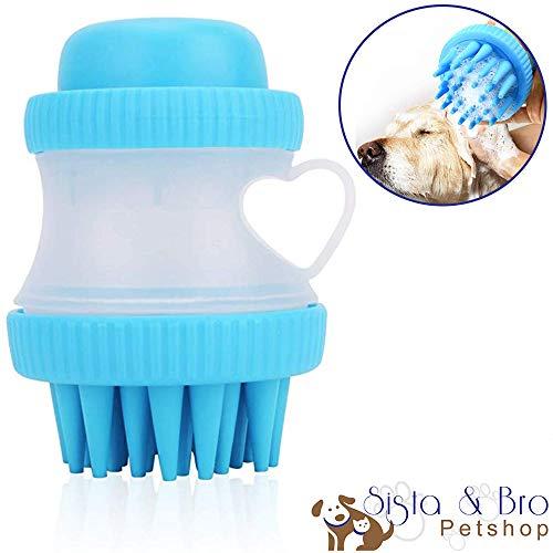 Brosse Shampoing Chien Chat en Silicone Souple Accessoires Toilettage Douche pour chien Chat Animal de compagnie Brosse Peigne Douche Bain Massage Chat Chien avec Réservoir Diffusion à Shampoing