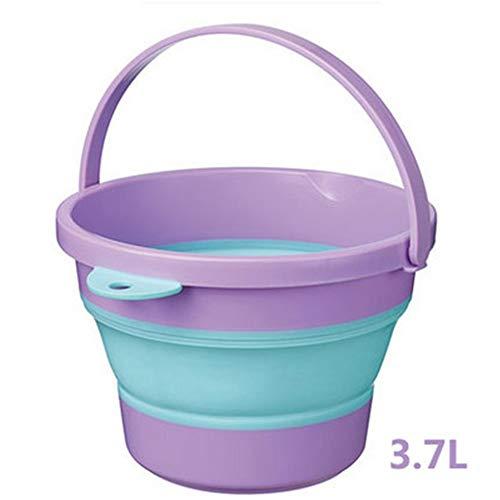 NBLYW Faltbare Spülwanne, Tragbares Silikagel-Mehrzweckwaschbecken, Platzsparende Kunststoffwanne zum Waschen von Teilen und für die Küche im Freien Camping,Purple - Küche-kabinett Im Freien