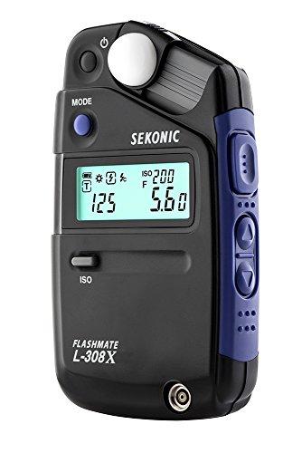 Sekonic FLASHMATE L-308X Belichtungsmesser für Fotografen und Filme, Schwarz/Blau