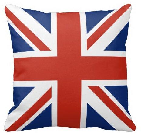 uk-jewelry classique Union Jack britannique drapeau couverture Taie d'oreiller zippée carrée doux Taie d'Oreiller Durable Cool 45,7x 45,7cm