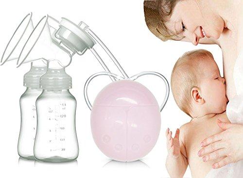 Elektrische Milchpumpe, aorula Dual Milchpumpe Automatische Massage nach der (Natur Kostüm Mutter Einfach)