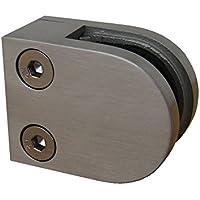 Soporte para cristal PMC, acero inoxidable, V2A, conector plano para cristal