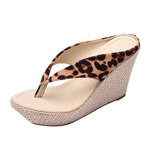 Eaylis Damen Joker Fashion Casual Wear Piste Mit Leopardenmuster Sandalen Sommer Strand Schuhe Hausschuhe Stilvoll
