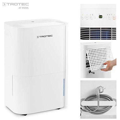 TROTEC TTK 54 E (max. 16 l/Tag), geeignet für Räume bis 78 m³ / 31 m², Luftentfeuchter und Luftreiniger mit integriertem Ionisator zur Verbesserung der Luftqualität