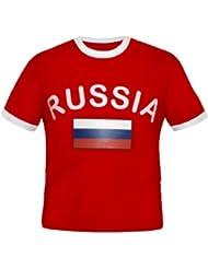 BRUBAKER Russland Fan T-Shirt Rot Gr. S - XXXL