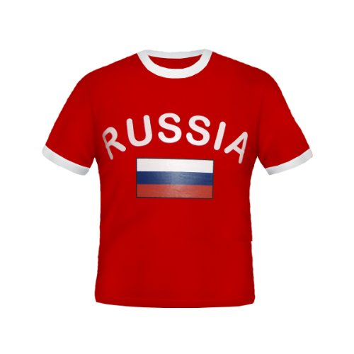 Brubaker–Rusia Fan–Camiseta rojo, tallas S–XXXL rojo 3XL