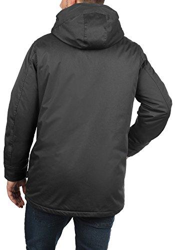 INDICODE Vancouver Herren Winterjacke Jacke mit Kapuze aus hochwertiger Baumwollmischung Dark Grey (910)