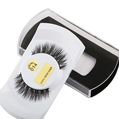 Oyedens 1pair 3D Natural Thick Mounting Fake Eyelashes M