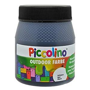 Piccolino Outdoor - Pintura para decoración (250 ml), Color Negro
