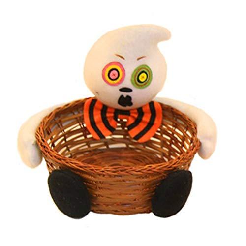 Lidahaotin Hand-Woven-Halloween-Geist Schwarze Katzen-Kürbis Zombie Dekorative Süßigkeit Keks Fruchtkörbe #1 17 * 20cm