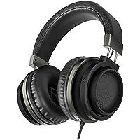 Ailihen MX-06 cuffie sopra l'orecchio con il microfono e Volume Bassi controllo stereo Auricolari regolabili per iPhone iPad iPod Samrtphones Android portatile compresse computer MP3/4(Nero/Grigio)