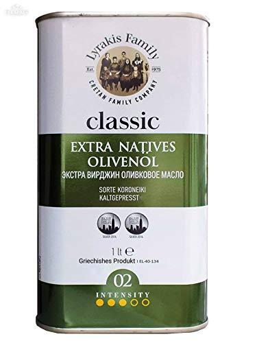 'Lyrakis Family seit 1975' Olivenöl 1l Extra Vergine Kaltgepresst aus Kreta-Griechenland |Extra Nativ 02|PREMIUM| (1Liter)