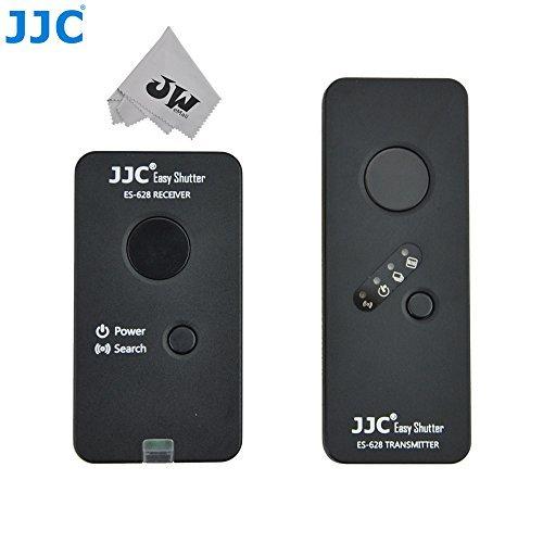 Preisvergleich Produktbild JJC es-628C1Kabelloser Fernbedienung Controller für Canon EOS 6D 5DS R 5DS 1DC 1DX 1D 7D 50D 5D Mark II III IV 1D Mark II N III 30D 20D 20Da 10D 1Ds ersetzt Canon RS-80N3+ JW Mode Micro Faser Reinigungstuch (Canon RS-80N3)