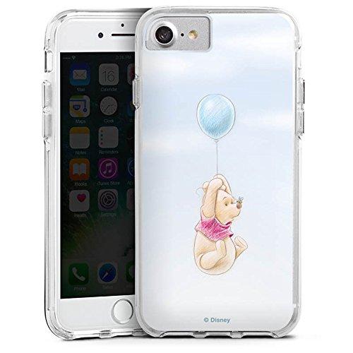 Apple iPhone X Bumper Hülle Bumper Case Glitzer Hülle Disney Winnie Puuh Merchandising Pour Supporters Bumper Case transparent