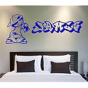 Graffiti Künstler Kinder Personalisierten Namen Wandkunst Wandaufkleber Aufkleber