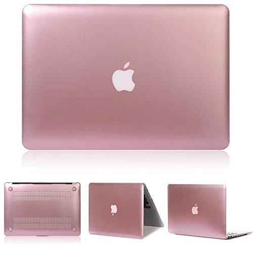 "MacBook Air 13 Pulgadas Funda - Ultra Slim Plástico Hard Shell Funda Snap Case para Apple MacBook Air 13.3"" (A1466 / A1369), Oro Rosa"