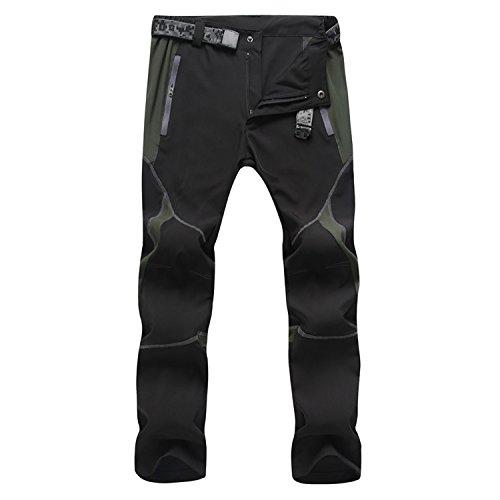 sukutu Herren Sportswear leicht wasserdicht atmungsaktiv Quick Dry Wandern Mountain Cargo Hose SU001 - schwarz grau - xl (Cargo Wasserdichte)