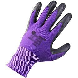 Kuncg Garten Handschuhe Atmungsaktiv Gartenhandschuhe Arbeitshandschuhe Latex Handschuhe für Böden, Eggen, Rose zu Beschneiden