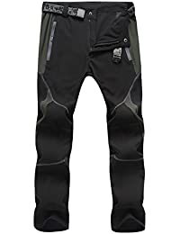 sukutu Hombre Sportswear ligero impermeable transpirable Quick Dry Senderismo Mountain Pantalones Cargo su001, negro y gris, xx-large