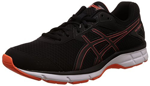 Asics Men's Gel-Galaxy 9 Black and Flame Orange Running Shoes - 9 UK/India (44 EU)(10 US)  available at amazon for Rs.3300