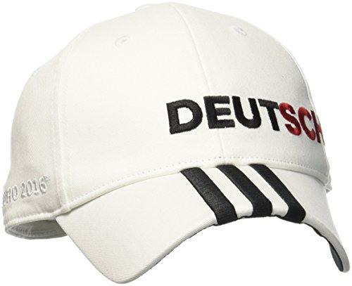 adidas Erwachsene CF 3-Stripes Deutschland Kappe, White, OSFM