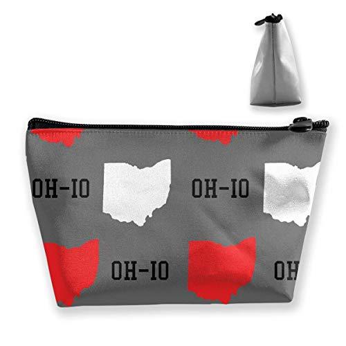 Women New Oh io State Map Gray Storage Bag Holder