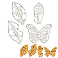 Set of 4 Monarch Butterfly Life Cycle Stages (Designs: Eggs, Caterpillar, Chrysalis, and Butterfly), 4 Pieces - Bakerlogy
