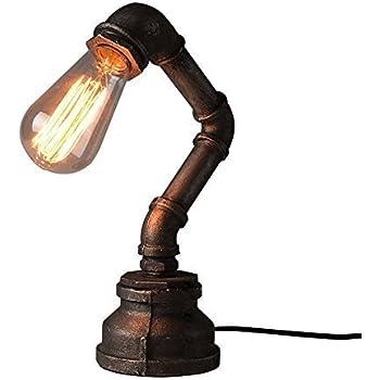 Nice ONEPRE Vintage Industrial Steampunk Table Lamp 1 Light Water Pipe Rustic  Bedside Desk Lamp