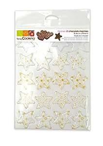 Scrapcooking 9491 Blister Chocolat Etoiles Moule Blister/PVC Multicolore 26 x 16 x 4 cm Lot de 20