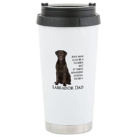 CafePress - Chocolate Lab Dad - Stainless Steel Travel Mug, Insulated 16 oz. Coffee & Tea Tumbler